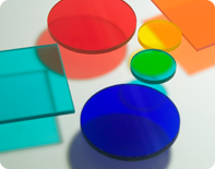Colored filter glass